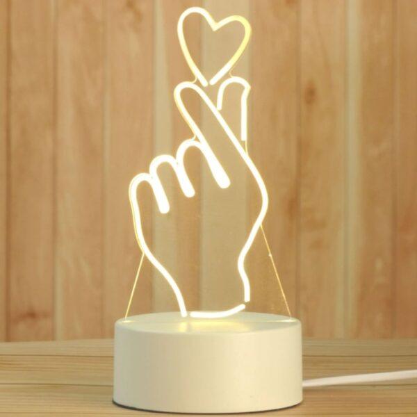 3D LED šviestuvas
