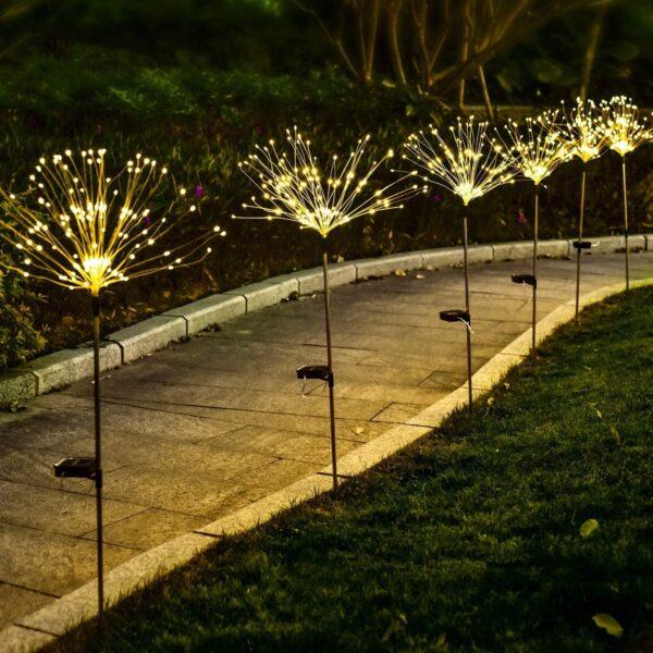 LED Lauko Šviestuvas Su Saulės Baterija