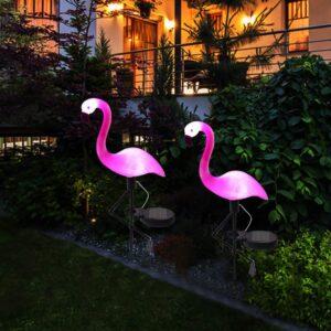 LED Lauko Šviestuvas Su Saulės Baterija (Flamingas)