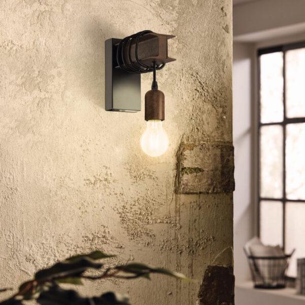 Eglo 43152 - Wall Lamp TOWNSHEND 1xE27/10W/230V